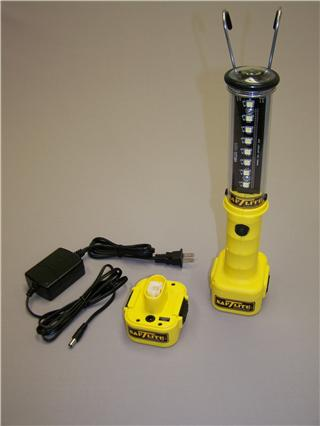 Stubby II Cordless LED High Output with Two Battery Packs by Saf-T-Lite American-Made