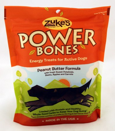 Zukes Power Bones Made in USA - Peanut Butter Bones -  3 Pack