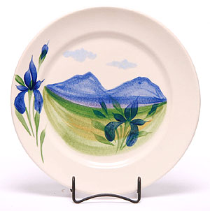 4 Handpainted Dinner Plates Made in USA
