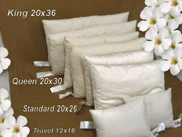 Organic All Cotton Pillows Made in USA