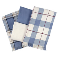 Cotton Throw American Made Blanket - Country Blues