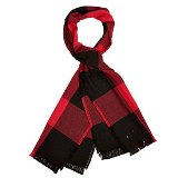 Check Cotton Scarf Made in America by Amana Woolens