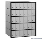 Commercial Aluminum Mailbox - 30 Doors - Standard System Made in America