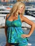Palm Island Tankini Plus Size Swimsuit Made in USA