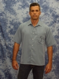 Tropical Palm Embroidered Short Sleeve Shirt Made in America