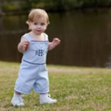 Boys Pinstripe Shortall Blue/Navy Made in USA