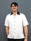Daccord Casual Shirt White/Black Made in America
