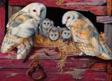 Barn Owls 1000 piece Puzzle Made in America