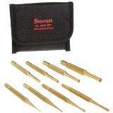 Starrett SB565Z Brass Drive Pin Punches Set Made in America, 8 Pieces