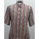 Striped Banded Bottom Shirt Made in USA