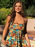 Brown Palm Island Tankini Plus Bathing Suit - American Made
