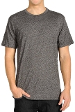 Heather Grey Loose Fit Short Sleeve Performance Shirt Made in America