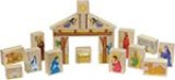 Nativity Block Set Made in America by Maple Landmark Toys