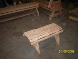 The Little Mountaineer Table Bench or Child Bench  - American Made