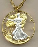 U.S. Walking Liberty (90% Silver) half dollar Necklace - American Made