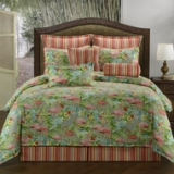 Victor Mills Comforter Set American Made - Flamingo