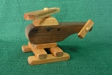 Handmade Wood American Made Toy Helicopter