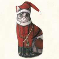 Santa Kitty DOORSTOP AMERICAN MADE