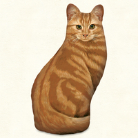 ORANGE TABBY CAT DOORSTOP MADE IN USA
