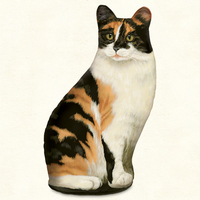 CALICO CAT DOORSTOP MADE IN AMERICA