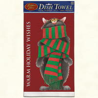WARM HOLIDAY WISHES Dish Towel American Made