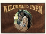 WELCOME TO OUR FARM Doormat Made in America