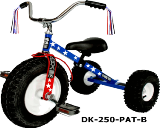 Child's Dirt King Patriot Tricycle American Made