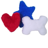 Squeaky Dog Toys 3-Pack Made in USA