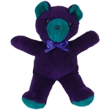 Purple & Teal Small Stuffed Animal Made in USA