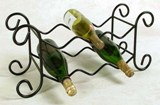 6 Bottle Wrought Iron American Made Wine Rack