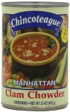 Manhattan Clam Chowder Soup Made in America - Set of 12 cans (15 oz. cans)