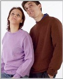Mens/Unisex 100% Cotton Crew Neck Pullover Sweater Made in USA