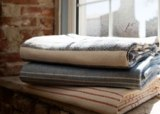 Chevron Cotton Bed Blankets Made in USA by Amana Woolen