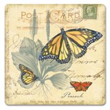 Butterfly Journal Hardboard Coasters Made in USA, Set of 4