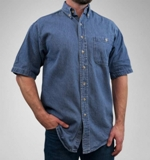 Short Sleeve Denim Shirt Made in USA
