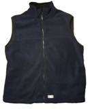 fleece vest Made in America - large - navy