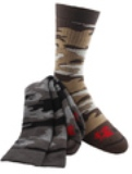 3-Pair Rocky Performance Camo Mid-Calf Socks Made in America
