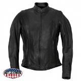 Ladies Braided Leather Jacket - American Made