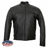 Racer Leather Jacket Made in USA