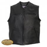 Pocketed Leather Vest - American Made