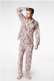 "BedHead Pajamas Multi Wonders of the World Stretch PJs Made in America -<FONT FACE=""Times New Roman"" SIZE=""+1"" COLOR=""#FF0000""> On Sale Now! </font>-"