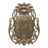 Pineapple Scroll Indoor Outdoor Wall Clock Made in America