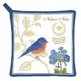 Bluebird Potholder - American Made - Set of 2