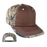 Brown/White Real Tree Rolled Hat Made in America
