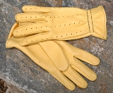 Mens Leather Tan Shooter Glove American Made