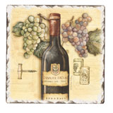 Tumbled Tile Trivet Made in USA - Vineyards