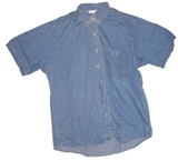 Ladies Union Made Denim Shirt Made in USA - SIze large