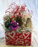 Valentine's Day Biscotti Gift Basket Made in USA
