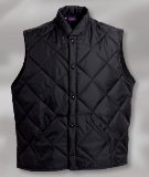 Men's Quilted Fleece Puffer Vest Made in USA