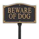 """Beware of Dog"" Statement Marker -Wall/Lawn Made in USA"